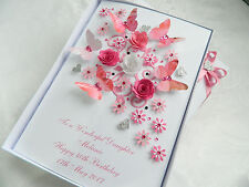 Handmade Personalised Luxury Mothers Day Birthday Card 50, 60, 70, Any Age Box