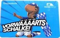 Knappenkarte + Vorwärts FC Schalke 04 + Maskottchen Erwin + Hülle + Restguthaben