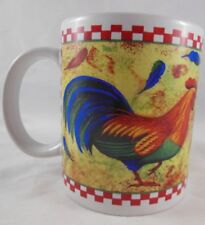 Colorful Rooster Mug  with feathers flying BI Inc
