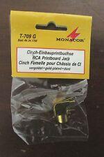 MONACOR Gold Plated RCA Printboard Jack T-709 G