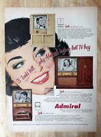 Original Magazine Print Ad 1953 ADMIRAL TV Television Art