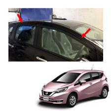 Fits Nissan Versa Note 17 18 Visor Wind Deflector Weather Guard Black Trim