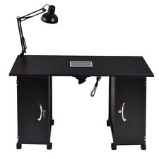 Manicure Table Large Beauty Spa Nail Station Steel Frame Salon Drawer Light Lamp