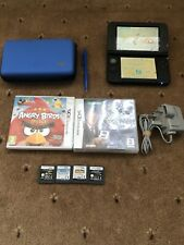 Nintendo 3DS XL Blue + 6 Games Including Mario + Genuine Charger Bundle