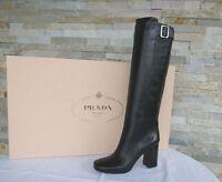 PRADA Gr 37,5 Stiefel Boots stivali Schuhe 1W161F schwarz NEU ehem. UVP 1250 €