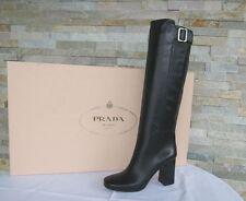PRADA Gr 37,5 Stiefel Boots stivali Schuhe shoes 1W161F schwarz NEU UVP 1250 €