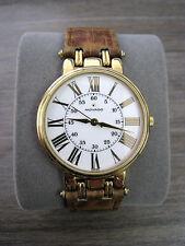 Movado 87.59.886 Vintage White Gold Roman Dial w/ Leather Band ESQ
