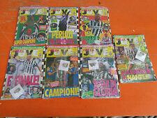 LOTTO DI 7 RIVISTE FORZA JUVE CON SPILLE E CARTOLINE BIANCONERE STAGIONE 1995-96