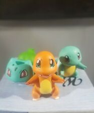 pokemon figures lot chamander squirtle  bulbasaur 1.25 inches each USA seller