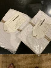 Pottery Barn Ruched pillow sham Standard White (set of 2) cotton Taie Oreiller