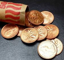 Roll of 50x 1965 Canada Small Cents (Penny) ***LUSTER, AU/UNC CONDITION***