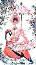 Mermaid Parasol Flamingo ~ Cotton Quilt Block FrEE ShiPPinG WoRld WiDE