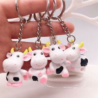Year Of The Cow Keychain 3D Resin Cattle Key Chain Cartoon Cute Car KeyRing  c