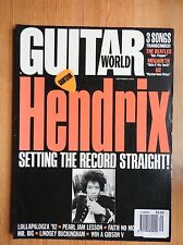 Guitar World Magazine - Sept 1992 - Hendrix  Pearl Jam Mr Big++