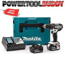 Makita DHP482RFWJ Combi Drill 18V Cordless LXT Li-ion White 2 x 3.0Ah Batteries