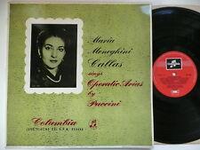 CALLAS SINGS OPERATIC ARIAS BY PUCCINI EMI COLUMBIA 33CX 1204
