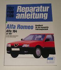 Reparaturanleitung Alfa Romeo 164 2,0 / 3,0 liter V6 + QV, ab Baujahr 1987