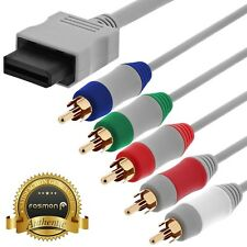 Fosmon HD TV Component RCA Audio Video AV Cable Cord Plug for Nintendo Wii U Wii