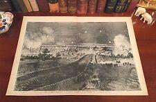 Original Antique Civil War BATTLE of PETERSBURG Virginia VA Wood Engraved Print
