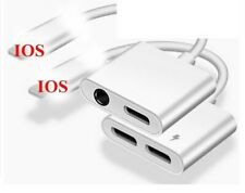 2 en 1 Adaptador De Audio Cable de Carga para iPhone 7 8 X Jack AUX XS 3.5 mm iluminación