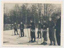 Foto Soldaten-Winter mit Ski-Skier-Schneeschuhe 2.WK (1321)