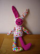 "Jellycat white pink floral circles Bebop bunny rabbit soft lush toy 13"" J879F"
