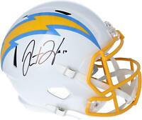 Justin Herbert Los Angeles Chargers Autographed Riddell Speed Replica Helmet