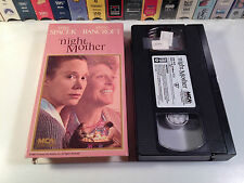 Night Mother Rare Drama VHS 1986 OOP Sissy Spacek Anne Bancroft Pulitzer Play