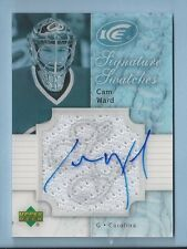 CAM WARD 2007/08 UPPER DECK ICE SIGNATURE SWATCHES JERSEY AUTOGRAPH AUTO