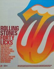 THE ROLLING STONES 2002 Poster Ad FORTY LICKS