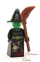 NEW Lego Green WITCH MINIFIG Monster Fighters Halloween Minifigure w/Brown Broom