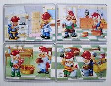 Série complète puzzle Kinder Handwerkerzwerge Nains Ferrero 92 (série 1994)