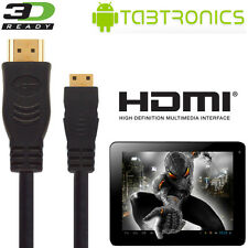 Tabtronics M009S, Quantum Tablet PC HDMI Mini to HDMI TV 2.5m Wire Lead Cable