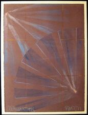 "Scott Sandell ""Ocean Weather #60"" Signed Original Monoprint, leaves, MAKE OFFER!"