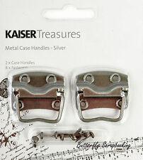 Silver Metal Case Handles, Scrapbooking Embellishments Kaisercraft, New - Tm809