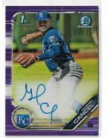 2019 bowman chrome 1st bowman prospect auto purple refractor Gabriel Cancel /250
