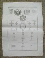 Stemmi e Medaglie-Parma Modena Lucca-Zuccagni Orlandini De Vegni Incisione 1845