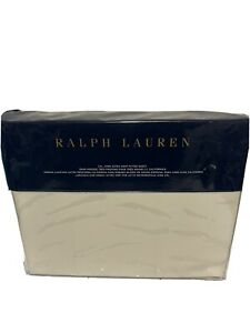 """Ralph Lauren Olivia Cal King Extra Deep Fitted Sheet """"78 X 80 X 16in"""" cream $185"""