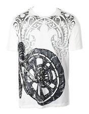 KONQUEST PLATINUM Men's K Bike Print T-Shirt White (KQTS005)