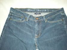 LEVI`S DARK WASH CAPITAL E SKIMMER LOW SKINNY JEANS , MADE IN THE USA,WOMENS 31.