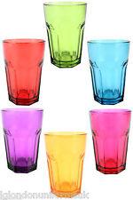 Qualité aras parti verrerie complète couleur whisky soda cocktail drinking glasses