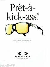PUBLICITE ADVERTISING 116  2011  Oakley  lunettes solaires  Holbrook  2
