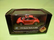 HONGWELL BAUER VW VOLKSWAGEN BEETLE TURBO S 2002 - RED 1:72 - NMIB