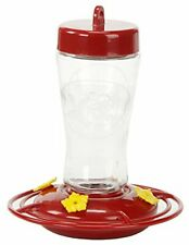 Homestead 3910 12-Ounce Hummingbird Feeder Etched Hardened Glass