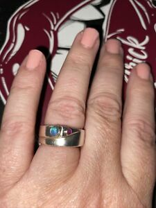 Sterling Silver Band Ring Unmarked Size O.5 Weighs 9.83