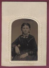 Remarkable Tintype of Young Woman, Amazing Clarity, 1860's