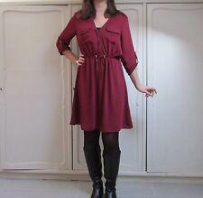 Vestito abito bordeaux satin H&M taglia M retrò anni 70 80