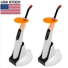 2PCS Dental Wireless Cordless LED Curing Light Lamp 1400mw Woodpecker Type LED.B