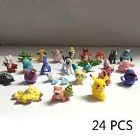 24pc Lot mixte gros Pokemon Figure Pikachu Monstre Mini aléatoire Perle Toys EN