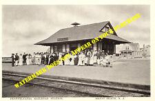 Pennsylvania RR Brant Beach NJ station LBI 8½x11 PC repro